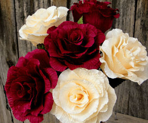 craft, crepe flowers, and crafting image