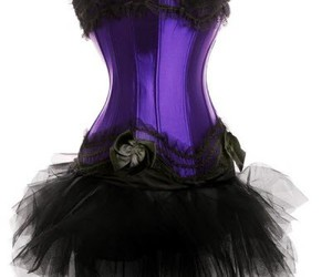 black, corset, and goth image