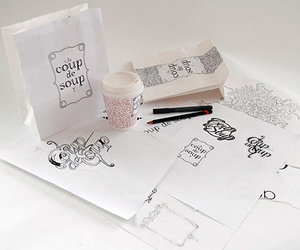 graphic, packaging, and typography image