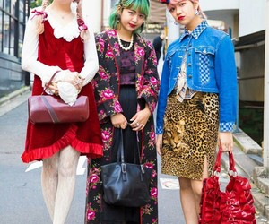 colorful, hair, and tokyo fashion image
