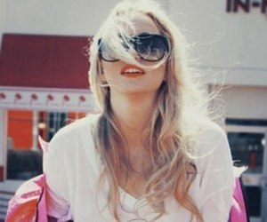 blonde, wildfox couture, and glasses image