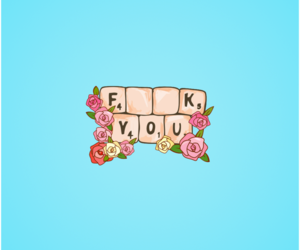 celeste, flowers, and fuck you image