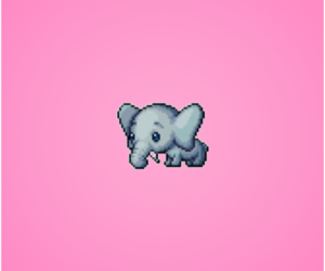 elephant, pink, and love image