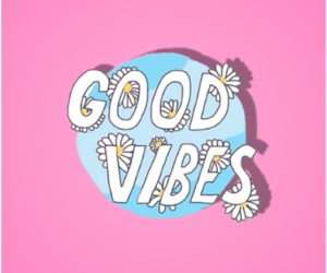 pink, quotes, and good vibes image