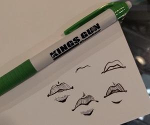 anime, lips, and art image