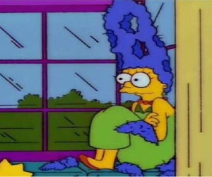 reaction, funny, and marge image