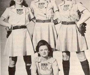 baseball, girl power, and vintage image
