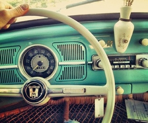 car, vintage, and blue image
