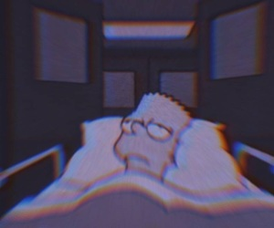 aesthetic, glitch, and simpsons image