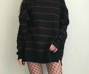 black, clothes, and girl image