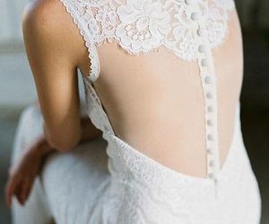 beautiful, bridal, and dress image