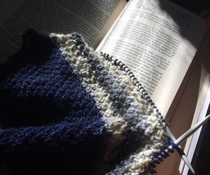 books, diy, and knitting image
