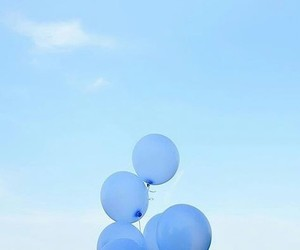 blue, aesthetic, and balloons image