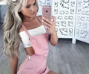 hair, pink, and clothes image