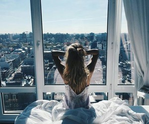 girl, morning, and photography image