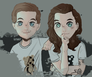 fanart, gay, and larry image
