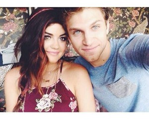 lucy hale, keegan allen, and pretty little liars image