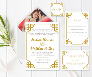 etsy, vintage wedding, and invitation suite image