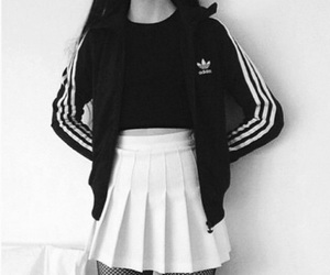 adidas and black&white image