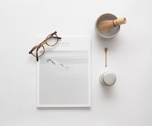 white, minimal, and glasses image
