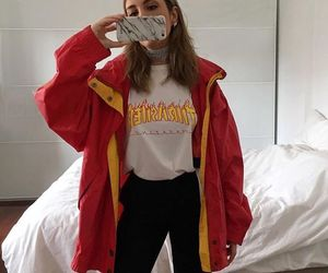 fashion, girl, and thrasher image