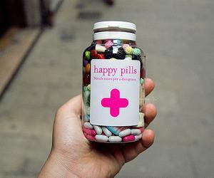happy, pills, and happy pills image