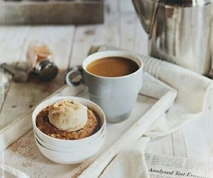 bread, coffee, and food image