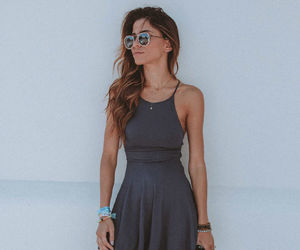 lace-up, skater dress, and tied together image