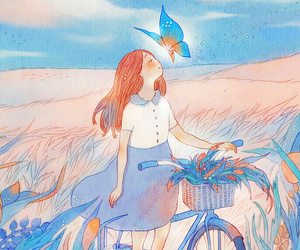 art, beautiful, and bicycle image