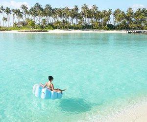 girl, Maldives, and travel image