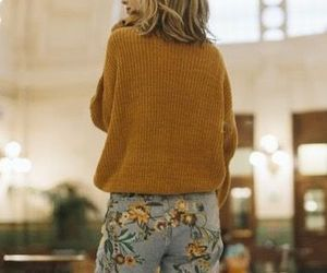 embroidery, floral, and jeans image