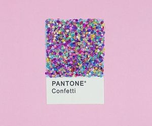 pantone, confetti, and pink image