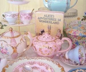 pink, tea, and vintage image