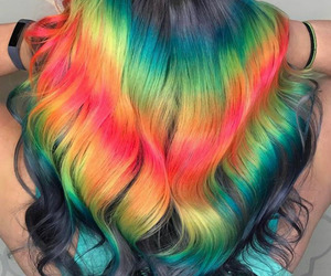 colourful, fashion, and hair image