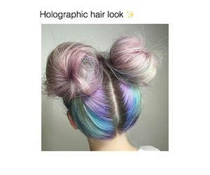 holographic hair look image