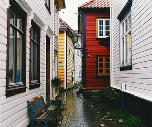 Houses, neighborhood, and red image