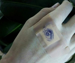art, eyes, and hands image