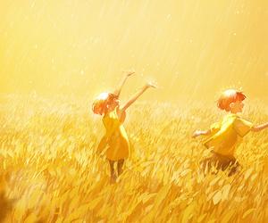 art, anime, and yellow image