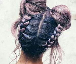 blue, braids, and buns image