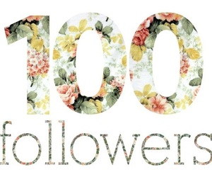 100, followers, and thank you image