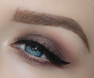 eye makeup, eyebrows, and eyeshadow image
