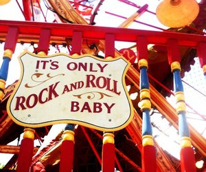 baby, fun fair, and rock image