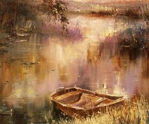 art, colours, and landscape image
