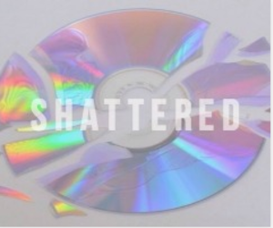 broken, cd, and holographic image