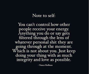 control, note to self, and integrity image