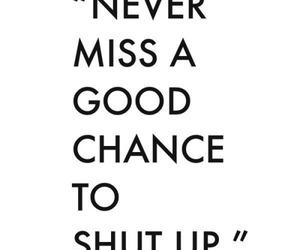 shut up and good chance image
