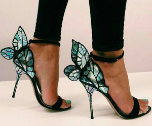 shoes, fashion, and butterfly image