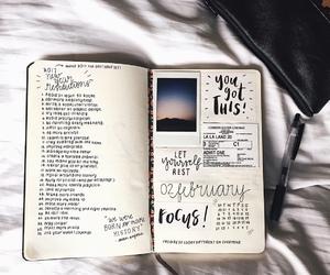 inspiration, journal, and minimalism image