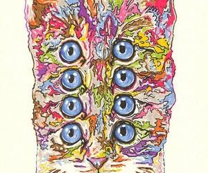 cat, eyes, and art image
