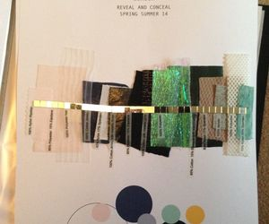 fabrics, fashion, and moodboard image